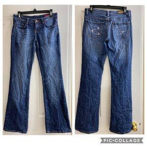 Seven7 Flare Rhinestone jeans, size 28
